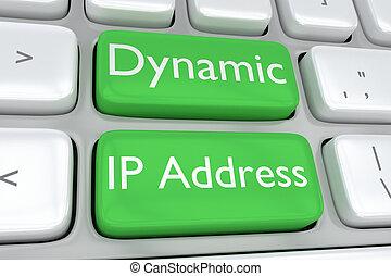 ip, concept, dynamique, adresse