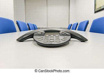IP conference phone the the meeting room