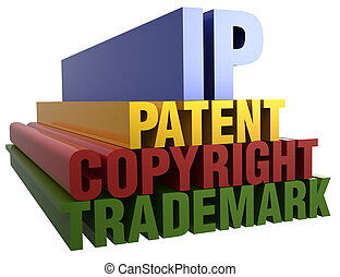 ip, octrooi, auteursrecht, handelsmerk, woorden