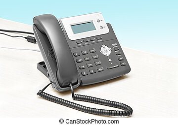 IP phone with a display table