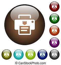 IP printer color glass buttons