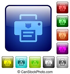 IP printer color square buttons