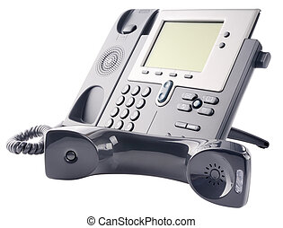 IP telephone set, off-hook