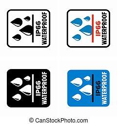 ip66, 保護である, 評価, 水, 能力, 防水