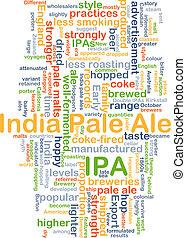 ipa, indianas, ale, conceito, fundo, pálido