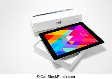 iPad 4 with iOS 7 - Manila,Philippines - July 17, 2014:...