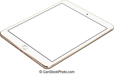 IPad air 2 gold with white screen