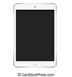 ipad mini screen of digital tablet
