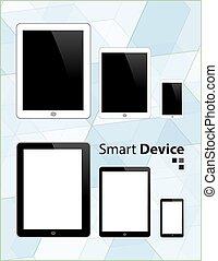 ipad, tablette, iphone., téléphone, vecteur, appareil, semblable, intelligent