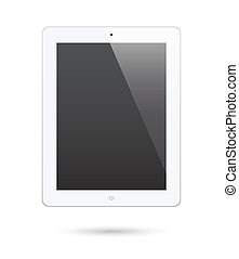 ipad touch screen tablet - illustration of ipad 2. Realistic...