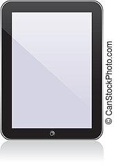 ipad., vecteur, seulement, ps, concept, transparence, eps8, tablette, non, effects.