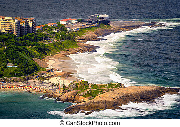 Ipanema Beach - Aerial view of Ipanema Beach, Rio De...