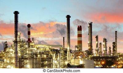 iparág, -, gáz, gyár, tim, olaj