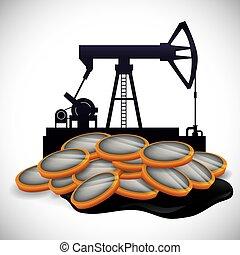 iparág, kőolaj, design.