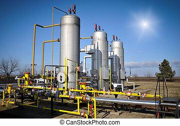 iparág, olaj, gáz