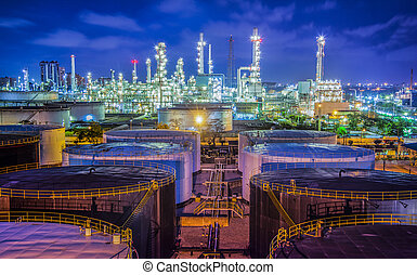 iparág, olaj, refinary