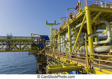 iparágak, olaj, gáz