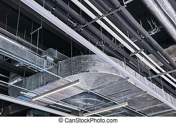 ipari épület, építések, plafon, különféle, műszaki