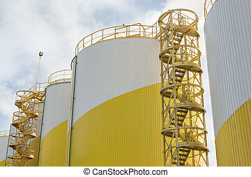 ipari, darál, olaj tárolás tartály