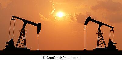 ipari, energia, kőolaj, gép, pumpa, olaj, tervezés, háttér, ...