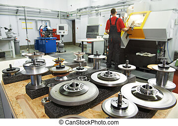 ipari, eszközök, -ban, műhely