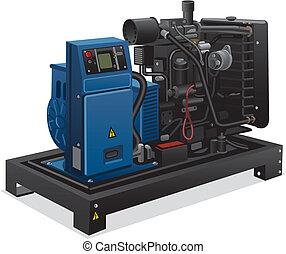 ipari, nagy generator