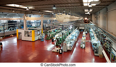 ipari, printshop:, flexo, sajtó, nyomtatás