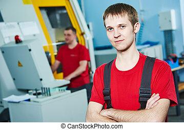 ipari, szerszám, műhely, munkás