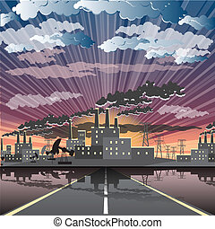ipari, város