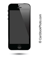 iphone 5 - illustrations of iphone 5.