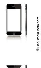 iPhone 5 with white screen