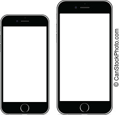 "Iphone 6 4.7"" Iphone 6 plus 5.5"" vector illustration eps10"