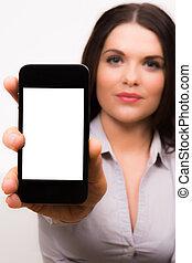 iphone, geschäftsfrauen