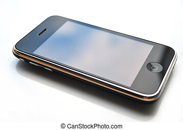 iphone isolated over white background technology touch