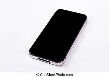 iPhone isolated on white background.