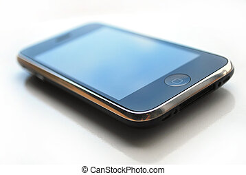 Iphone - iphone isolated over white background technology...