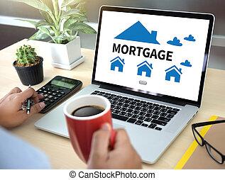 ipoteca, proprietà, beni immobili, casa, pagare, prestare pagamento