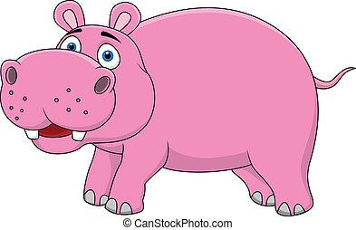 ippopotamo, cartone animato