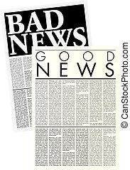 ipsum, giornali, copia, lorem