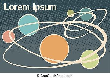 ipsum, lorem, videnskabelige, baggrund