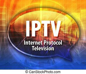 IPTV acronym definition speech bubble illustration - Speech ...