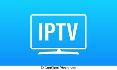 Iptv Badge, icon logo Motion design