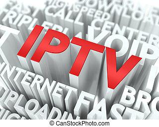 IPTV. The Wordcloud Concept.