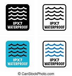 IPX7 waterproof protection standard information sign
