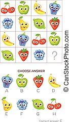 IQ, 答え, テスト, 正しい, 選びなさい