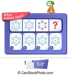 iq comes next brain teaser 1 - educational game, brainteaser...
