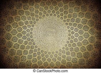 irán, kupola, isfahan, mecset, dísztárgyak, keleti