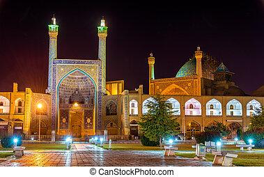 irán, -, mecset, isfahan, shah, (imam), kilátás
