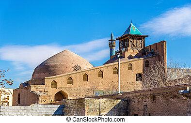 irán, mecset, isfahan, shah, (imam), kilátás
