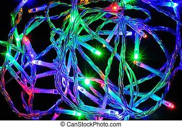 irányított, modern, lights., karácsony